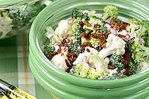 Broccholi and Cauliflower Salad