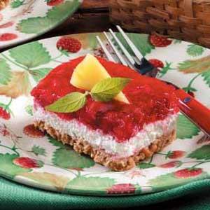 Strawberry Pretzel Torte